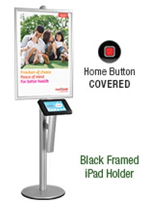 iPad Kiosk with A1 Poster