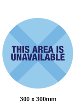 Area Unavailable Sticker