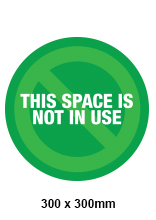 Space Not in Use Sticker