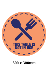 Table Not in Use Decal