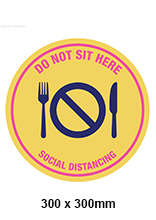 Social Distancing Table Sticker