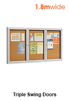 Pin Up Boards With 3 Swing Doors