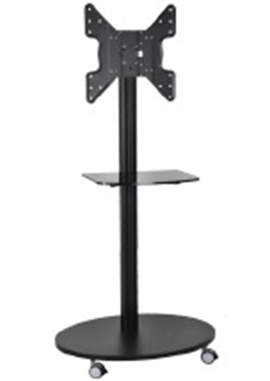 Black Plasma Floor Stand