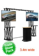 Tradeshow TV Stands for Flat Screen