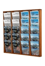 Wooden Wall Hanging Magazine Rack