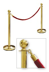 Rope Barrier Posts Gold Classic