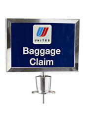 A4 Silver Rope Barrier Sign Holder