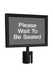 Black Retractable Sign Holder