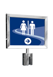 Silver Retractable Sign Holder