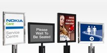 Retractable Barrier Sign Holders