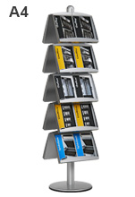 10 Pocket Tiered Brochure Holder