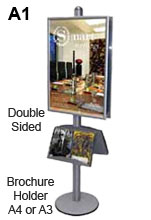Double Sided Information Display Stands