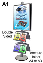 A1 Poster Stand and Dual Literature Holders