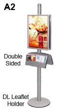 Dual Sided Advertising Stand