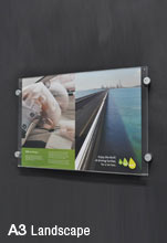 Sign Wall Mount for Landscape A3 Graphic