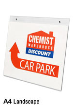 A4 Acrylic POS Sign Holder ? Wall Mounted, Landscape