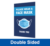 Face Mask Double Sided Printed Corflute