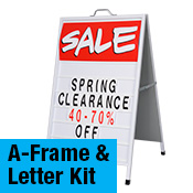 A Frame Sidewalk Signs with Changeable Letter