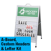 Sandwich Board with Changeable Letters