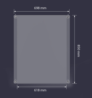 Acrylic Display Dimensions