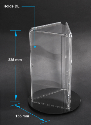 acrylic display for services industry