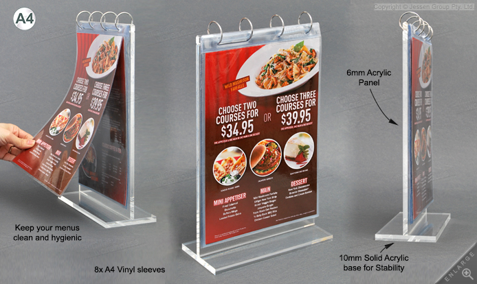 Restaurant Menu Holder