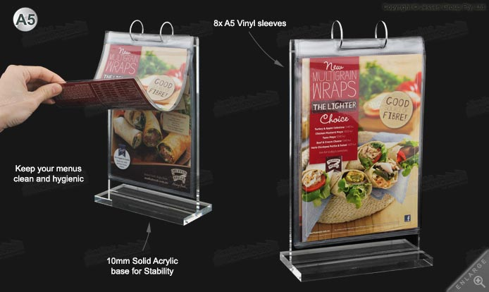 Table Menu Stand