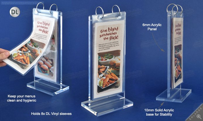 This Table Tent Holder Is Ideally Used At Cafes Restaurants For - Acrylic table tent holders