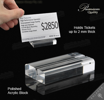 Acrylic Ticket Display