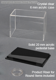 The Acrylic Display Case Protects Collectibles Valuables