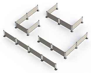 Different Configurations Possible with Coffee Barriers