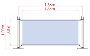 Outdoor Display Banner Dimensions