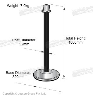 Barrier Post Dimensions