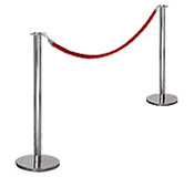 Polished Rope Barrier Posts