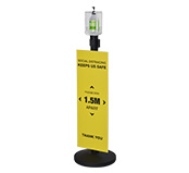 Stanchion Hand Sanitizer Station With Sign