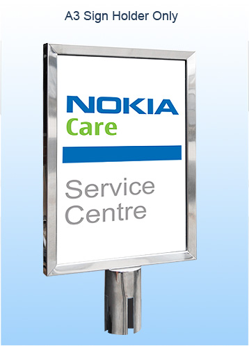 A3 Black Retractable Sign Holder