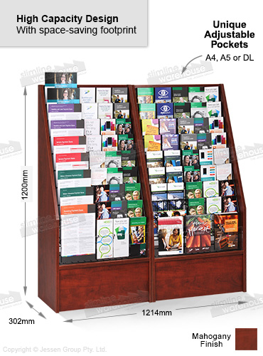 The Wood Brochure Rack Looks Great With In Any Decor