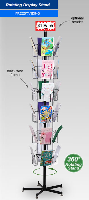 This Brochure Dispenser Is A Tiered Rotating Rack