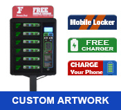 Phone Charging Kiosk with Print