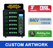 Locker Charging Station with Custom Printed Header
