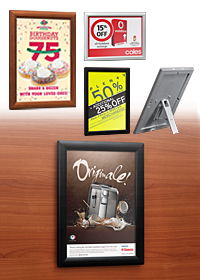 Multi-Purpose Opti Frame - Portrait or Landscape - A5 and A4 - Black and Silver