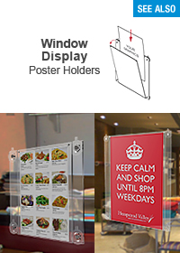 Window Display Poster Holders - A1, A2, A3 & A4