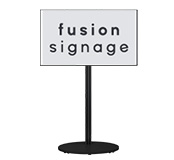 Floor Standing Digital Display with Fusion Signage Software
