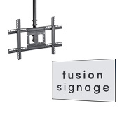 Adjustable Ceiling Mount with Fusion Signage Software
