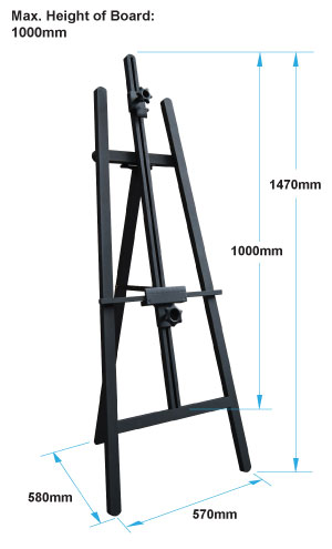 Easel dimensions