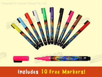 More Liquid Markers Avaiable!
