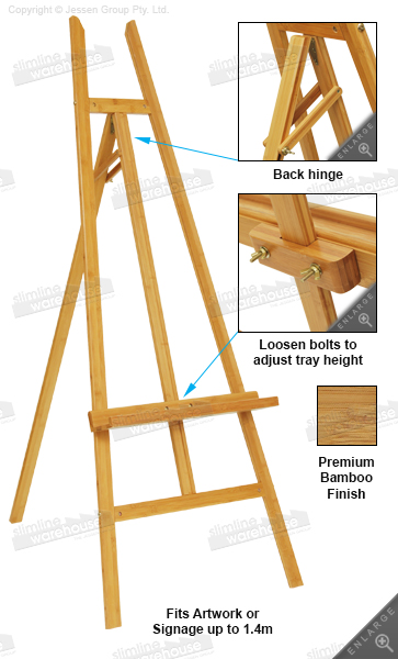 This Art Easel Is Made Of Bamboo A Durable Unit For Long