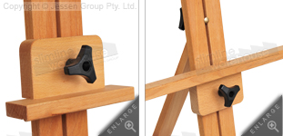 Adjustable top clamp to secure displays