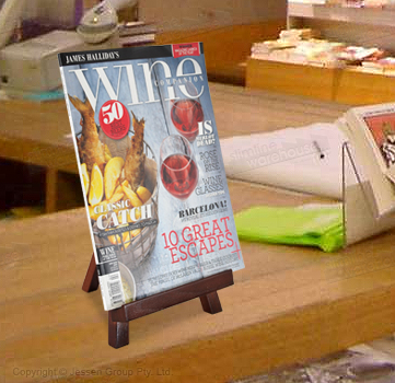 Show Magazine on Counters with this display!