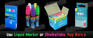 See More Liquid Markers & Chalksticks